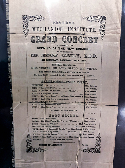Image of silk invitation from 1857