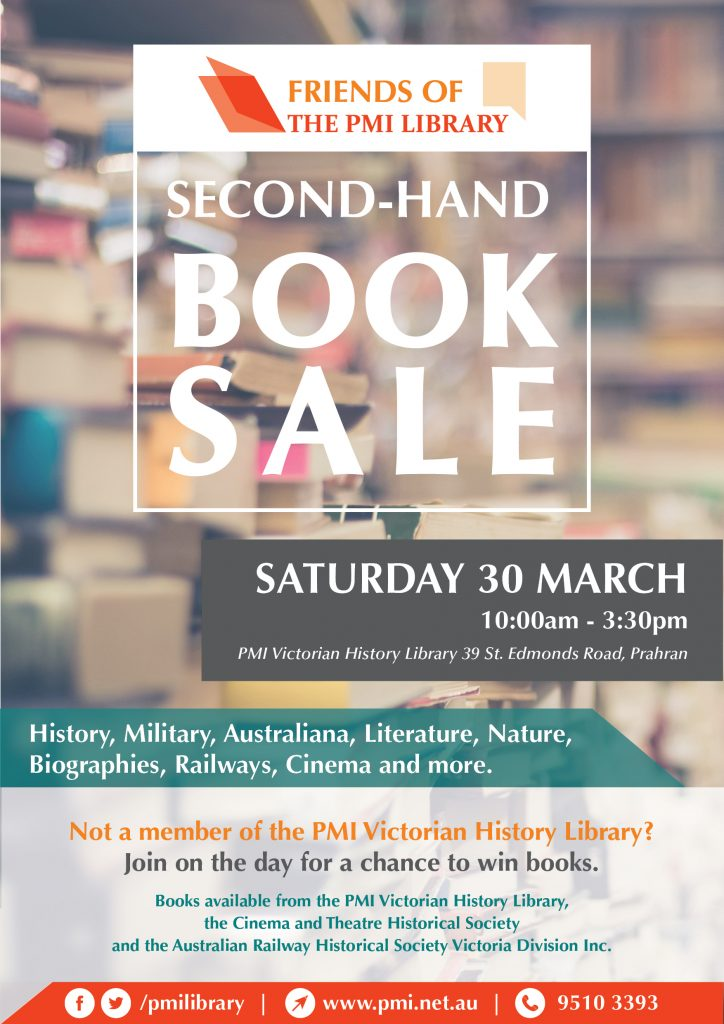 second hand book sale poster