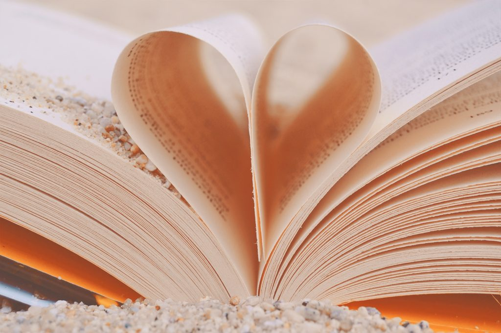 Image of Book pages in heart