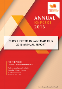 Click here to download our 2016 Annual Report