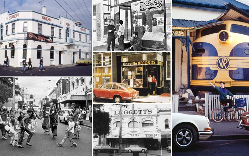 Collage of image of Greville Street over the years
