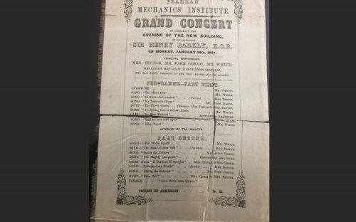Photo of 1857 Silk Invitation