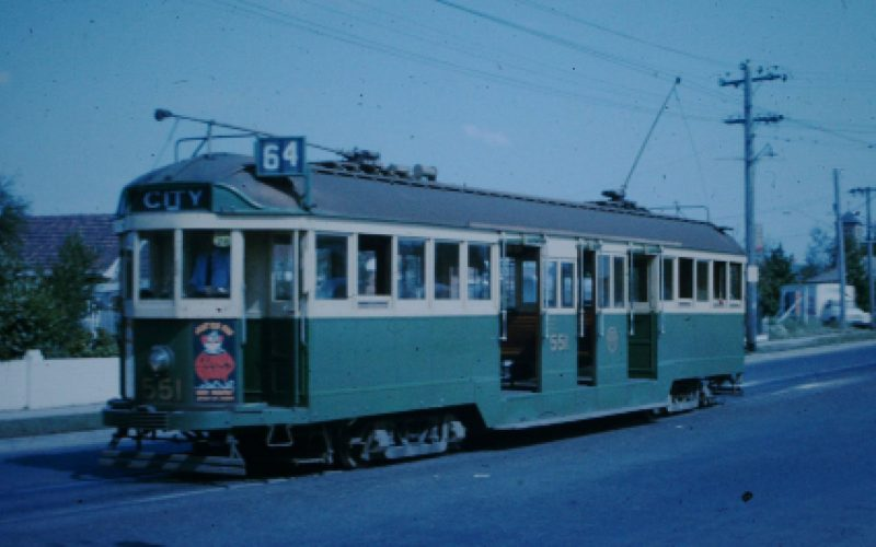 Image of W2 Class Tram No. 64 at East Brighton Terminus